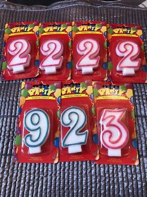 7 Numeral Number Candles 2 3 9 Pink Green Birthday Cake Making