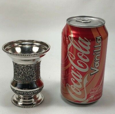 Antique Persian Solid Silver Hand Chased Small Urn Vase by VARTAN 100g