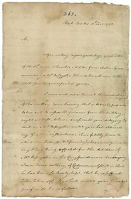 George Washington Letter Signed on Impending Execution of C. Asgill