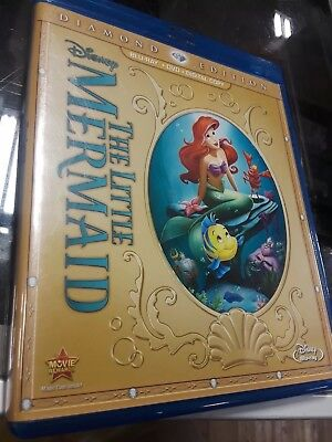The Little Mermaid (Blu-ray/DVD, 2013, Diamond Edition)NO CODE, EXCELLENT
