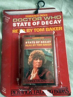 DOCTOR WHO - STATE OF DECAY read by TOM BAKER - TALKING BOOK - CASSETTE - RARE