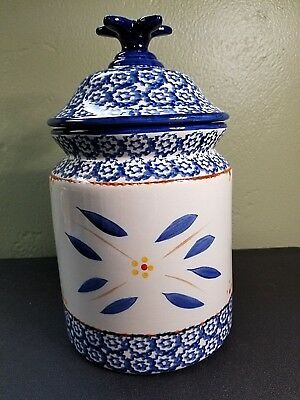 *NEW* TEMP-TATIONS Old World Blue Cookie Jar Large Canister