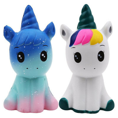 Jumbo Unicorn Slow Rising Squishies Scented Squeeze Reliever Anti Stress Kid Toy