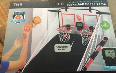 NEW Sharper Image Electronic Over-The-Door BASKETBALL Hoops Game  ~ Free S/H