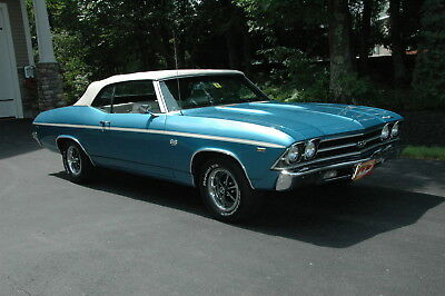 1969 Chevrolet Chevelle Comvertible 1969 Chevrolet Chevelle SS 396 Convertible 427 Muscle Classic Show Collector