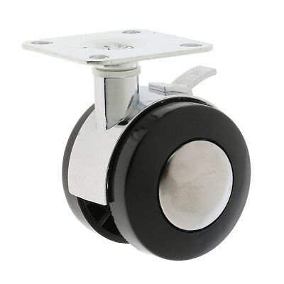 "Universal Swivel Plate Caster Wheel with Brake, 2"", Durable"