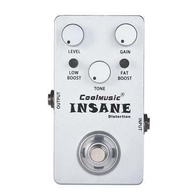 Pro Electric Guitar Distortion Effect Pedal True Bypass Silver High Quality N7T6