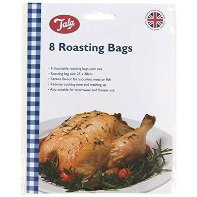 Tala Roasting Bags - Meat Cooking Fish 8 Oven Chicken x