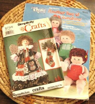 Soft Doll Patterns Miss Martha 'Another Ray Of Sonshine' & Simplicity 9796 XMas