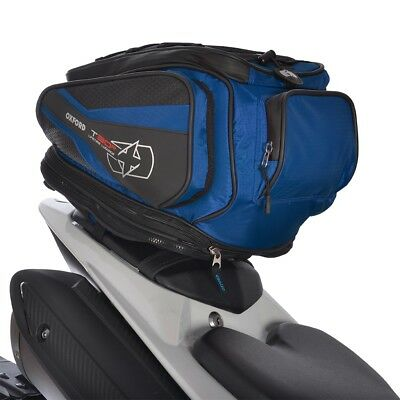 Oxford T30R 30 Liter Motorcycle Luggage Tail Pack and Backpack Blue OL337