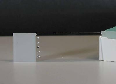 "Microscope Slides, Glass, Frosted: 25 x 75mm (1""x3""), 90° Ground Edges, 72/Box"