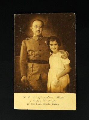 Francisco FRANCO and Daughter Carmencita Jalon Angel Photo Portrait POSTCARD