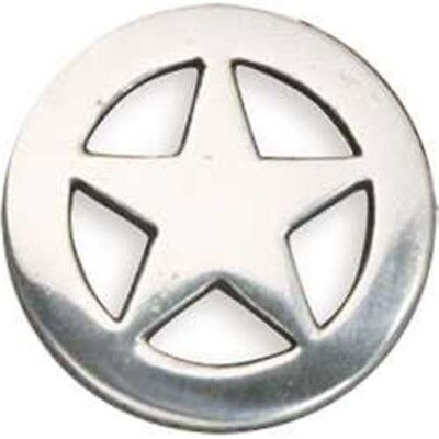 Ranger Star Concho 1-1/4in - Antique Silver Screwback 125