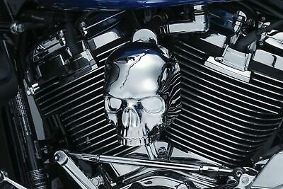 Kuryakyn Chrome Skull Waterfall Style Horn Cover Accent Harley Motorcycle 17-20