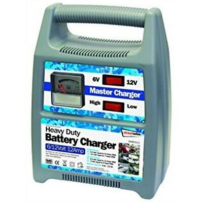 Streetwize Swbcg12 6/12v 12 Amp Automatic Plastic Cased Battery Charger - 612v