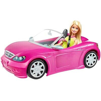 Barbie Glam Convertible Vehicle - Doll Car Pink New Toy