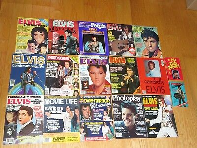 "Elvis Presley Magazine Lot Vintage ""The King"" Remember Me Candidly Movie (m443)"