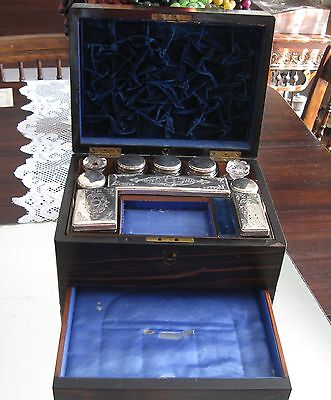 Fabulous Antique 1868  Travel Vanity Box/chest/trunk  With Proof Of Provenance