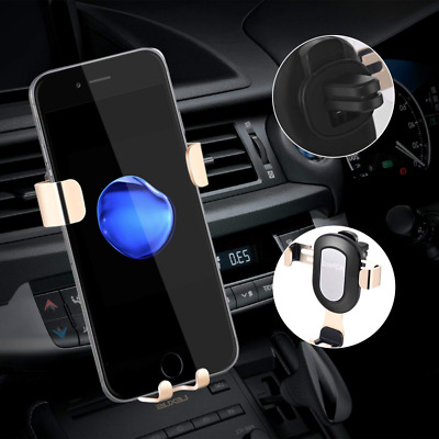 Car Phone Holder Universal Air Vent Mount One-Handed Performance (Gold) NEW