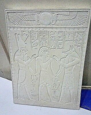 RARE ANCIENT EGYPTIAN ANTIQUE Ramses and Horus and Anubis Stela Ancient Antique