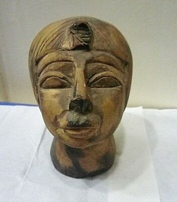 RARE ANCIENT EGYPTIAN ANTIQUE HEAD of TUTANKHAMUN ANTIQUE Stone 1334-1325 BC