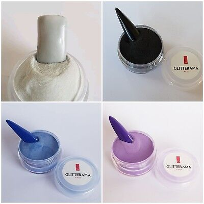 Coloured acrylic powder bundle pre-mixed 4g glitterama purple, black, grey, blue