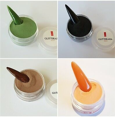 Coloured acrylic powder bundle pre-mixed 4g glitterama orange black halloween