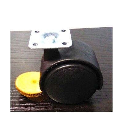Pack of 100 2 inch Black Plastic Caster Wheel with Swivel Plate