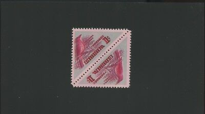 Liberia stamps, #341, Birds, Error vignette printed in two colors, pairs