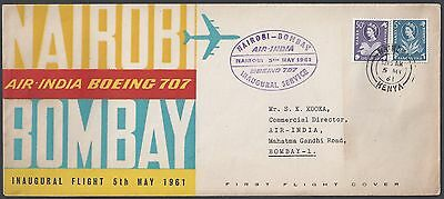 Kenya India 1953 First Flight On Air India Boeing 707 Nairobi To Bombay