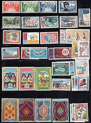 ALGERIA 1949-80's COLLECTION OF 31 COMPLETE SETS MINT NEVER HINGED EXCEPT 4 STAM