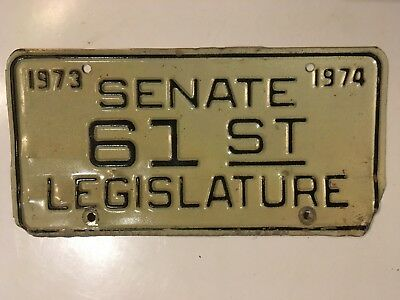 1973 1974 West Virginia Legislature Senate Senator License Plate Government