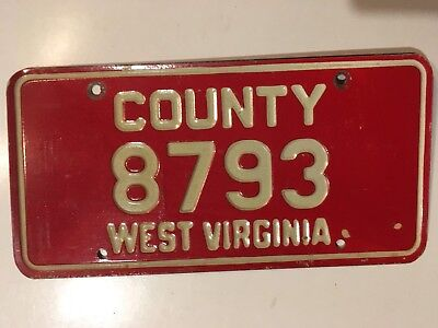 1961 West Virginia COUNTY Government License Plate Sheriff Police Fire Ambulance