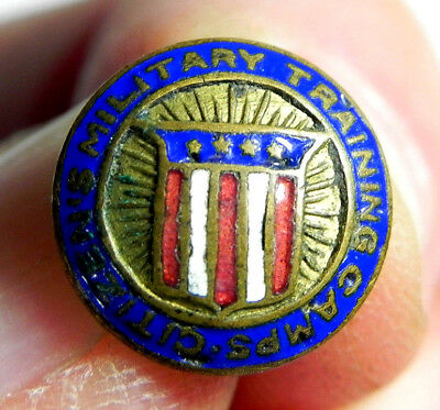 vintage enamel Citizens Military Training Camps National Defense Pin CMTC