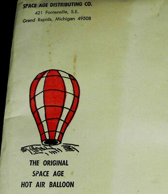 Vintage 1960's? THE ORIGINAL SPACE AGE HOT AIR BALLOON Grand Rapids MI 9 ft toy