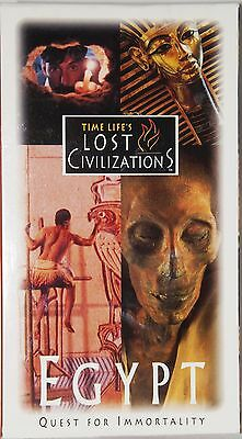 Egypt Quest for Immortality Time Life's Lost Civolutions VHS 1995 UPC 0783582692