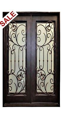 """SUMMER SPECIAL! Double Entry Iron Door with Operable Glass - 61 1/2"""" x 81"""""""