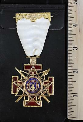 Antique MASONIC 14kt Gold 33rd Degree Scottish Rite Jewel Medal, 26.8dwt, NR