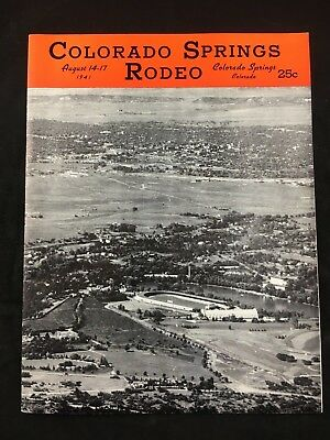 Colorado Springs Rodeo Program August 1941 Western Show (A40)
