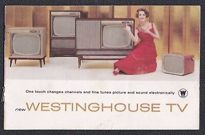 "1950-60s Westinghouse TV advertising catalog, 6.25"" x 4"", 18 pp lots of pictures"