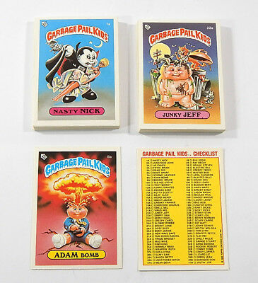 Lot of (47) 1985 Topps UK Garbage Pails Kids 1-40 A Series Cards (2) Adam Bomb