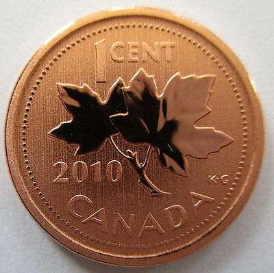 2010 Canada 1 Cent Specimen Magnetic Penny Coin