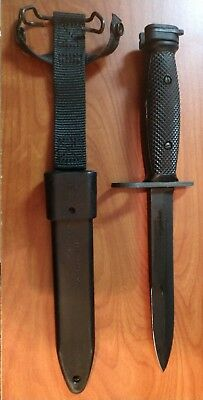 US Military ONTARIO M7 Bayonet Combat Knife with M10 Black Scabbard SEALED BAG