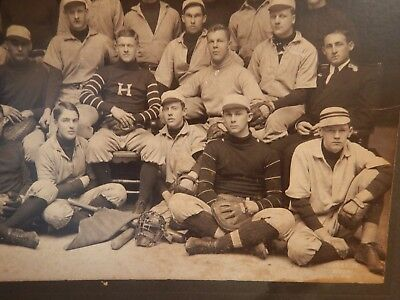 "Antique very large Photo Baseball ""H"" TEAM early 1900s; original;CURTISS STUDIOS"