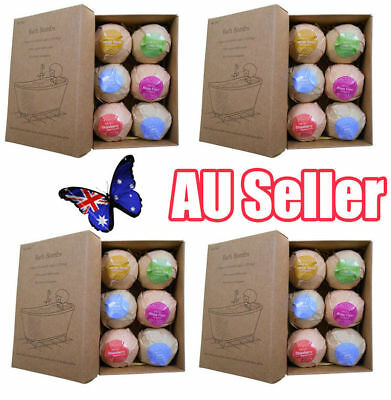 24Pcs Aromatherapy Bubble Bath Bombs with Coconut Oil GIFT Bath Fizzies ON