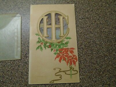 Vintage 1912~1913  International Harvester Tractor Company Christmas Card ~  IHH