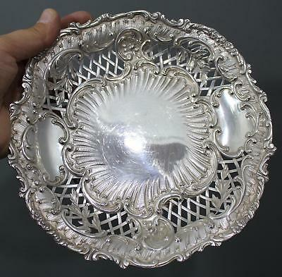 Antique French Minerva Sterling Silver Openwork Plate Dish, 8.65 Troy Ounces, NR