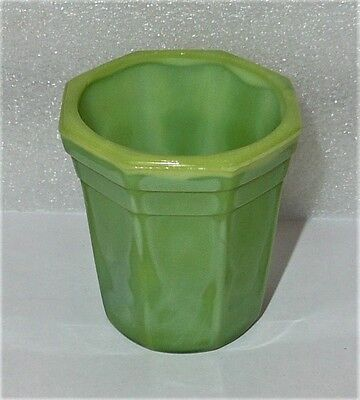 Akro Agate Octagonal Beautiful Lime Green Tumbler ~ 7 Available