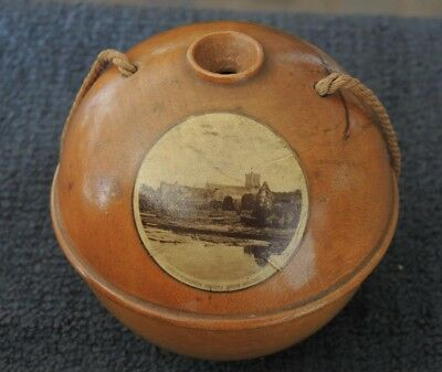 Mauchline Ware Treen Hanging String Holder Christchurch Priory From Bridge #8