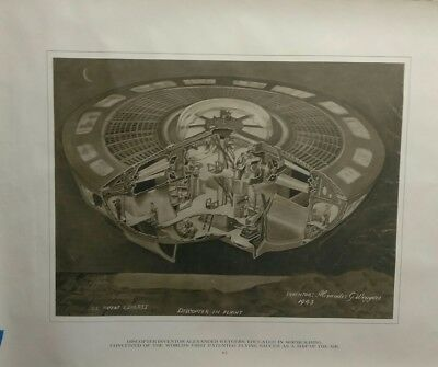 Alexander Weygers Discopter poster print #2 1943 patent 22×28 Flying Saucer UFO